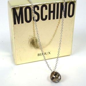 59dc8690ff3 MOSCHINO Vintage silver Necklace 925 Bijoux